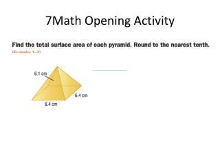 7Math Opening Activity