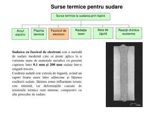Surse termice pentru sudare
