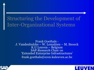 Structuring the Development of Inter-Organizational Systems