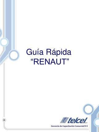 Gu�a R�pida  �RENAUT�
