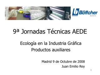 9ª Jornadas Técnicas AEDE