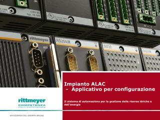 Impianto ALAC  -  Applicativo per configurazione