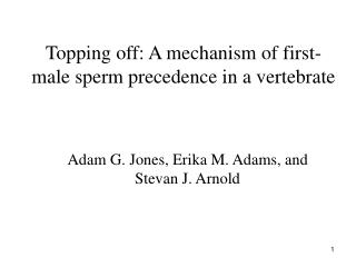Topping off: A mechanism of first-male sperm precedence in a vertebrate