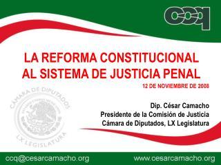 Dip. C�sar Camacho Presidente de la Comisi�n de Justicia C�mara de Diputados, LX Legislatura