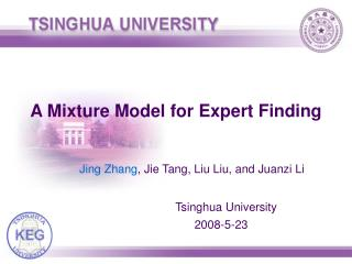 A Mixture Model for Expert Finding