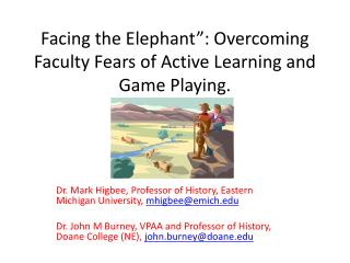 "Facing the Elephant"": Overcoming Faculty Fears of Active Learning and Game Playing."