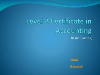 Level 2 Certificate in Accounting