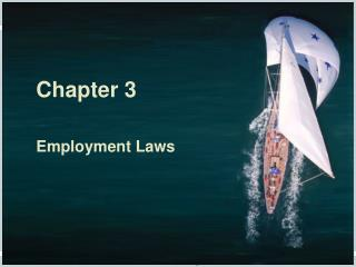 Chapter 3 Employment Laws