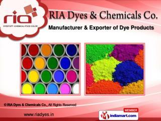 Acid Dyes &  Pigment