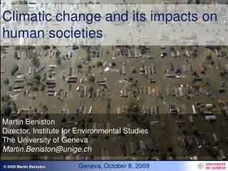 Climatic change and its impacts on human societies