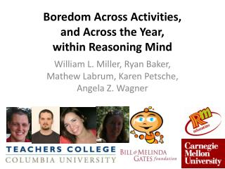 Boredom Across Activities,  and  Across the Year,  within  Reasoning Mind
