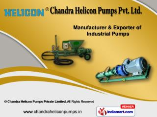 Cement Grout Pumps  &  Screw Pumps