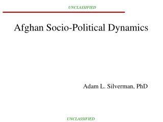 Afghan Socio-Political Dynamics