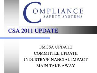 CSA 2011 UPDATE