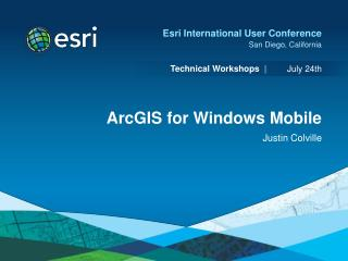 ArcGIS for Windows Mobile