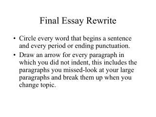 Final Essay Rewrite