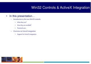Win32 Controls & ActiveX Integration