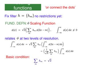 Scaling functions