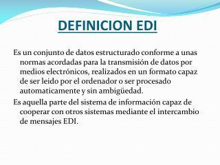 DEFINICION EDI