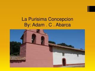 La Purisima Concepcion B y: Adam . C . Abarca
