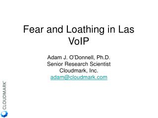 Fear and Loathing in Las VoIP