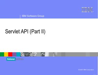 Servlet API (Part II)