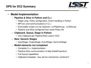 DPS for DC2 Summary