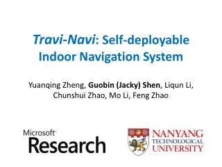 Travi-Navi : Self-deployable  Indoor Navigation System