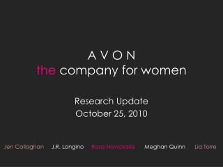 A V O N the  company for women