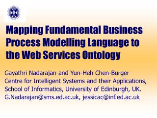 Mapping Fundamental Business Process  Modelling  Language to the Web Services Ontology