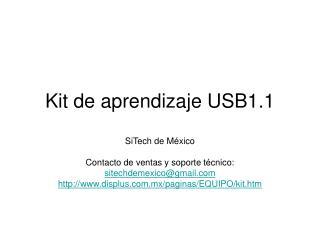 Kit de aprendizaje USB1.1