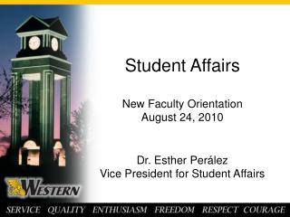 New Faculty Orientation Student Affairs Presentation 2010