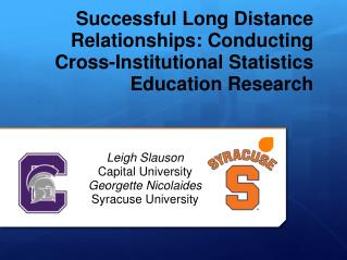 Leigh Slauson Capital University Georgette Nicolaides Syracuse University