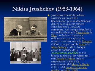 Nikita Jrushchov (1953-1964)
