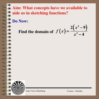 Aim: What concepts have we available to aide us in sketching functions?