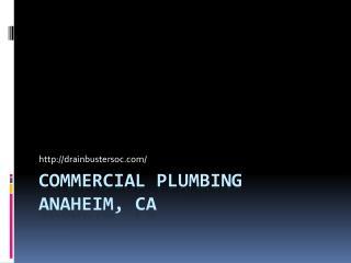Plumbing Services Anaheim, CA