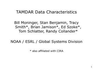 TAMDAR Data Characteristics
