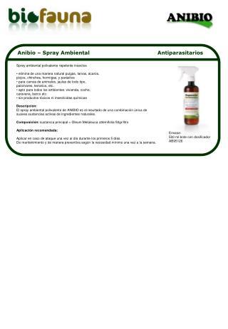 Anibio – Spray Ambiental                                       Antiparasitarios