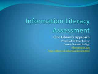 Information Literacy Assessment