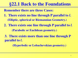 �22.1 Back to the Foundations