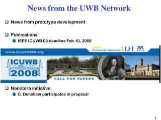 News from the UWB Network