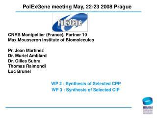 PolExGene meeting May, 22-23 2008 Prague