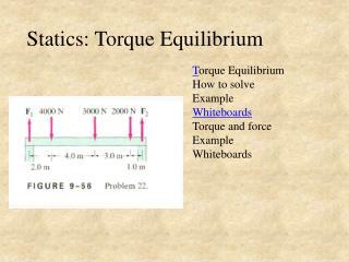 Statics: Torque Equilibrium