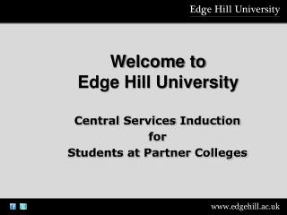 Welcome to  Edge Hill University