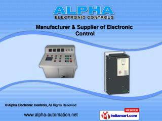 Electronic Panels 	&	  Electronic Controller
