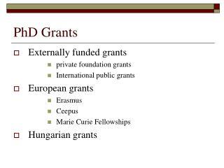 PhD Grants