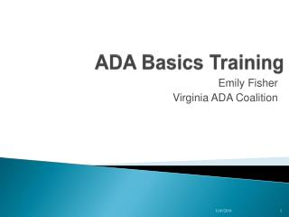 ADA Basics Training