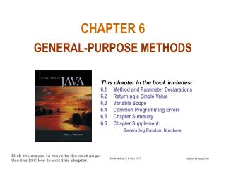 CHAPTER 6 GENERAL-PURPOSE METHODS