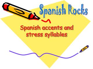 Spanish accents and stress syllables