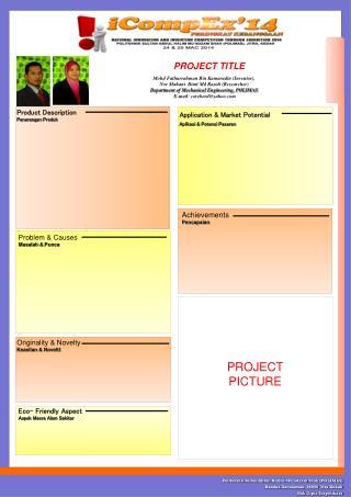 Product Description  Penerangan Produk